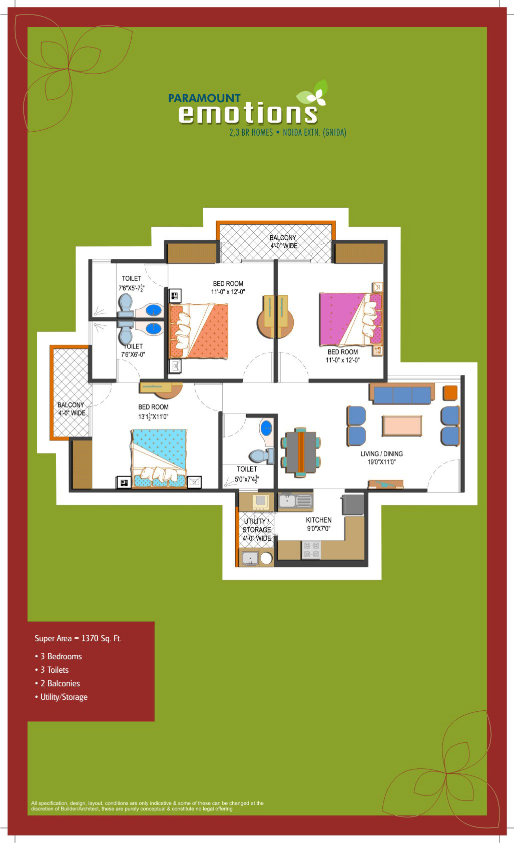 Paramount Emotions Floor Plan Paramount Emotions Noida Extension